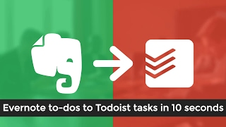 Evernote to Todoist Integration - To-dos