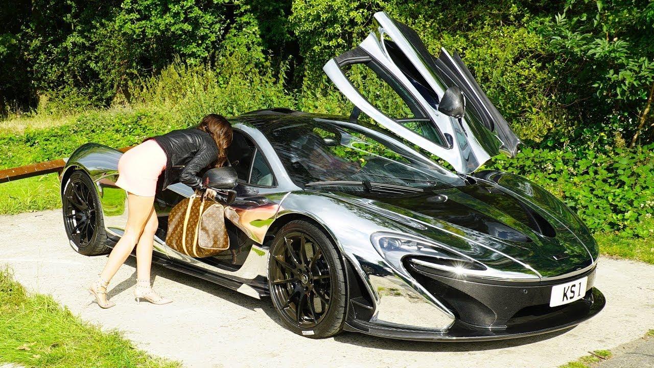 McLaren P1 GOLD DIGGER PRANK