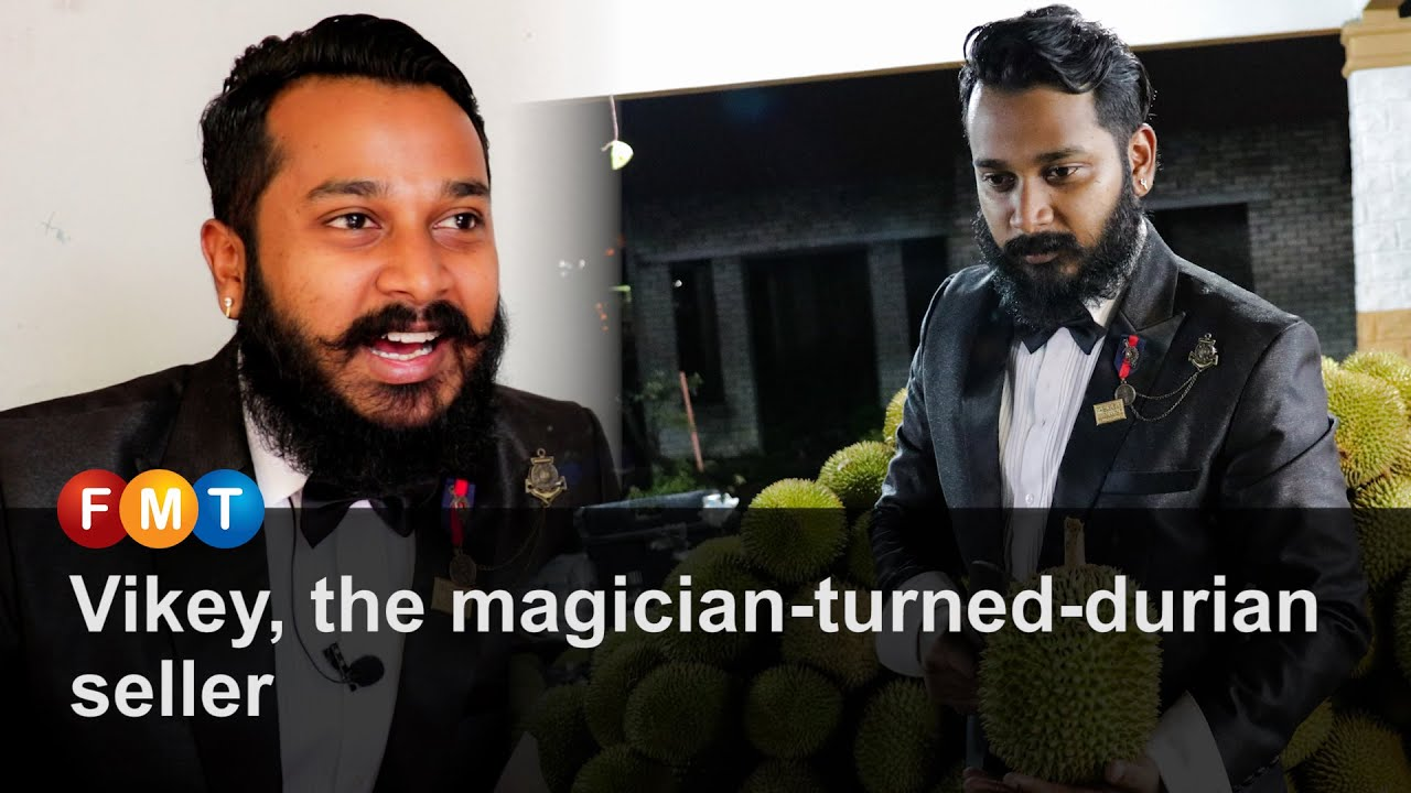 Vikey, the magician-turned-durian seller