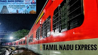 Tamilnadu Express | First Run With Brand New LHB Coaches & Parallel Departure with Cheran Express