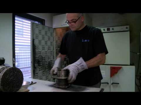Herstellung Marshallprüfkörper