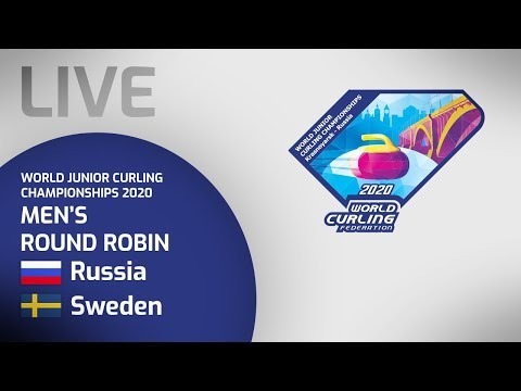Russia v Sweden - Men's round robin - World Junior Curling Championships 2020