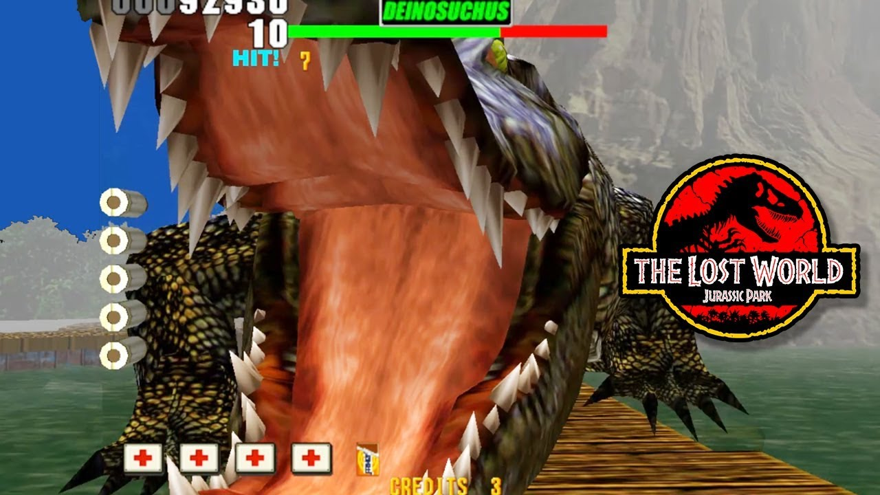 Boss Deinosuchus Monster Crocodile Stage 2 The Lost World Jurassic Park Arcade Shooter Game Youtube