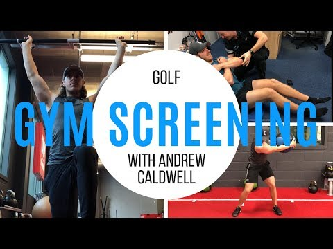 GOLF GYM SCREENING WITH ANDREW CALDWELL | MD GOLF
