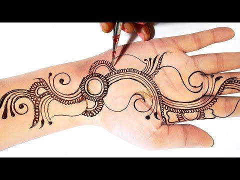 Unique Mehndi Design - Simple Mehndi Design for Hands - आने वाले शादी और पार्टी में लगाएं मेहँदी
