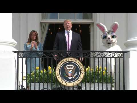 EASTER EGG ROLL: President Trump Speech At White House 2019 Celebration
