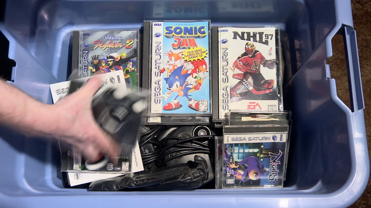 Sega Saturn Games Collection Unboxing Part 1 Youtube