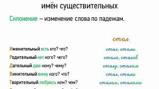 Падеж и склонение имён существительных (6 класс, видеоурок-презентация)