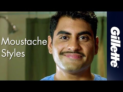 Moustache Styles For Men: Pencil Thin Moustache  Gillette STYLER