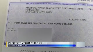 Police: Watch Out for Water Settlement Check Thieves