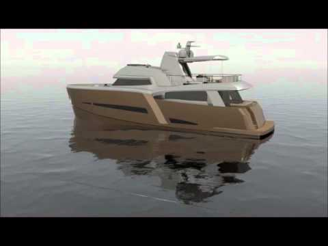 ONE-OFF Yacht Design Studio 70 Ft Trawler  wmv