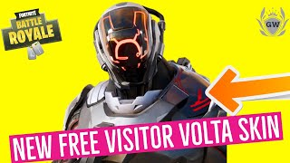 HOW TO GET The NEW Fortnite FREE VISITOR VOLTA SKIN! IN GAME ROCKET LAUNCH EVENT SEASON X!