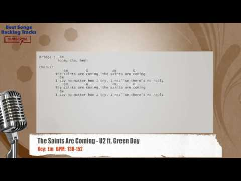 The Saints Are Coming - U2 ft. Green Day Vocal Backing Track with chords and lyrics