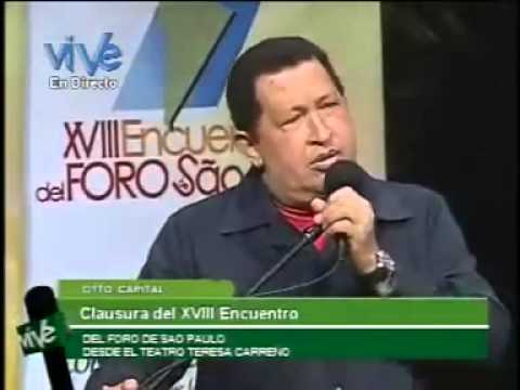 6 Jul 2012 Clausura del XVIII Foro de São Paulo en Caracas