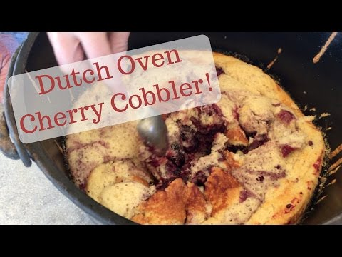 Dutch Oven Cherry Cobbler