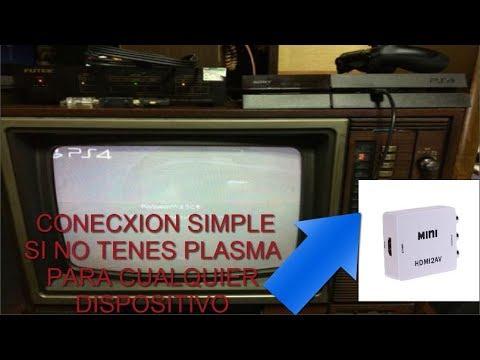 CONVERSOR HDMI A VIDEO COMPONENTE RCA - COMO CONECTAR PS4 A TELE DE TUVO