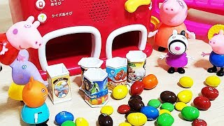 Peppa pig Vending machine M&M's Chocolate Candy surprise eggs baby doll play #6