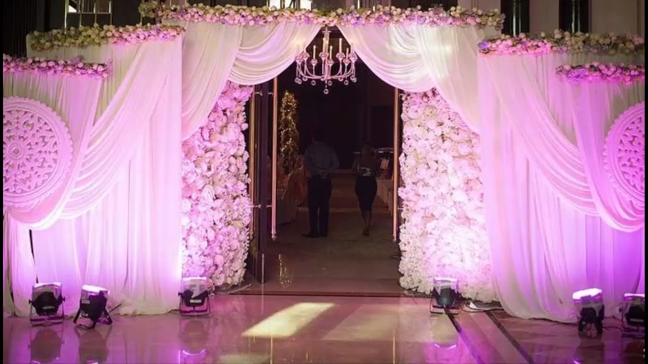 Wedding Decor Ideas For The Main Entrance Of The Wedding Venue - YouTube
