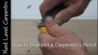 How to Sharpen a Carpenter