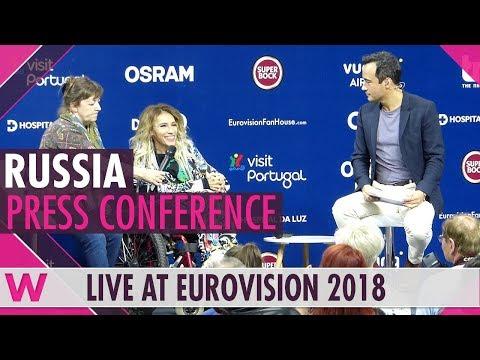 """Russia Press Conference: Julia Samoylova """"I Won't Break"""" @ Eurovision 2018   wiwibloggs"""