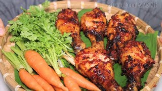 Grilled Chicken Drumsticks with Chilli, Green Pepper and Honey...|| Street Food & ASMR