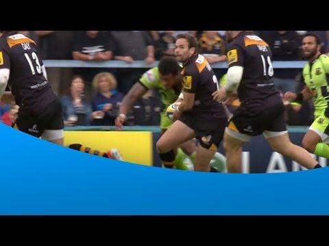 Courtney Lawes huge tackle on Ruaridh Jackson