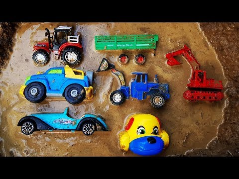 Fine Toys Construction Vehicles for Kids Under The Mud - Excavator Dump Truck Wheel Loader