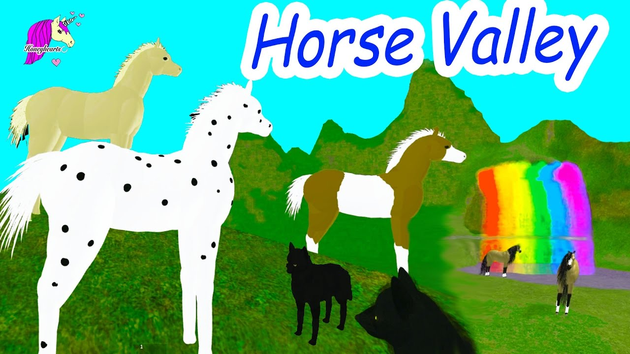 Horse Valley & Foals + Pegasus In New World - Let's Play Online Roblox  Horse Games