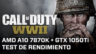 Call of Duty WWII (Beta) - AMD A10 7870K + GTX 1050 Ti (1080p High)