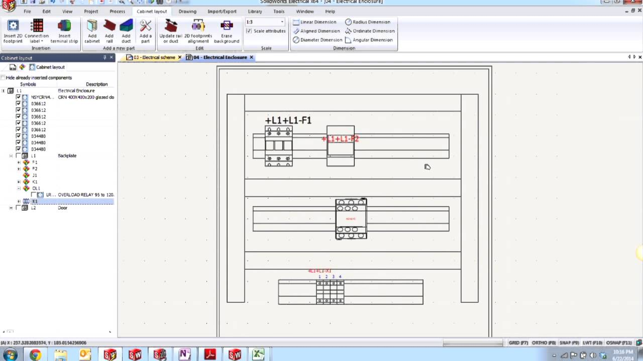 SOLIDWORKS Electrical   Creating A 2D Cabinet Layout   YouTube