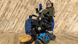 My COOL New Power Wheelchair   Permobil M5 with Head Array