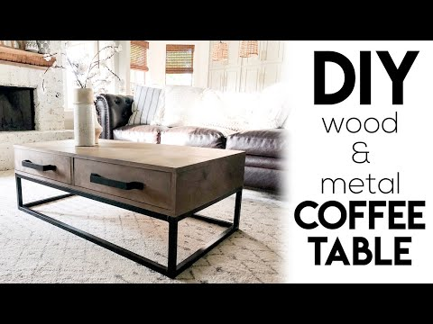 DIY Wood & Metal Coffee Table