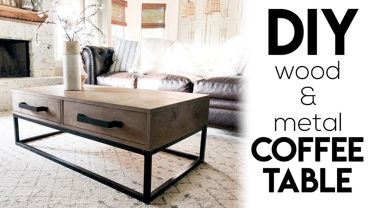 Diy Wood Metal Coffee Table Youtube
