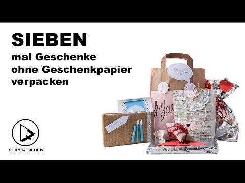 Sieben Mal Geschenke Ohne Geschenkpapier Verpacken Youtube