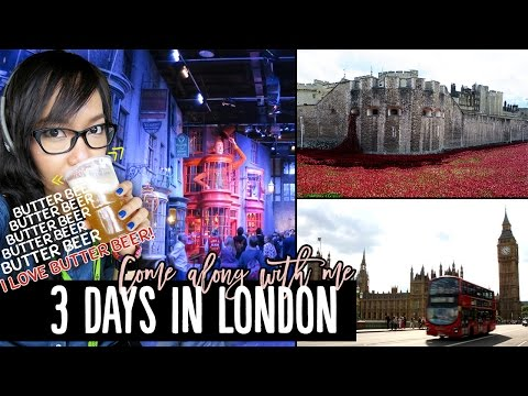 My 3-Day London Trip - Warner Bros. Studio Tour, London Eye Walk, & More! | Pippopunkie