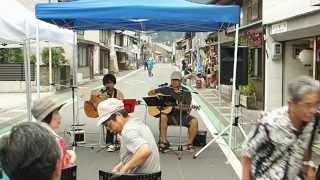 中部まつり地割れ花火ストリートライブ、名倉マコト、リハーサル。