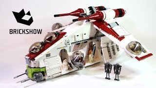 Kijk Lego Star Wars 75021 Republic Gunship filmpje