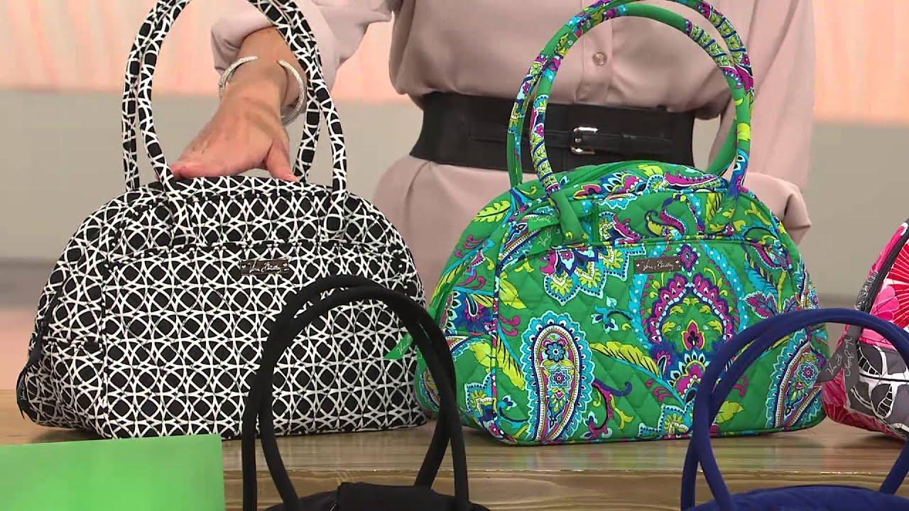 Vera Bradley Microfiber Medium Bowler Bag With Coin Purse Amy Stran