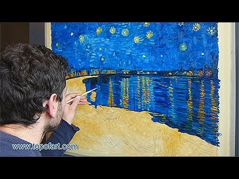 Art reproduction van gogh starry night over the rhone for Van gogh paintings locations