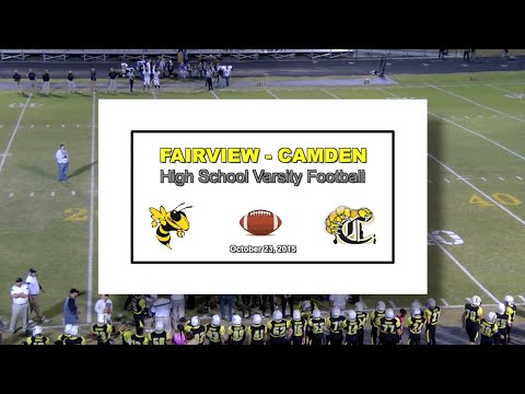 2015 10 23 FVHS SPORT Football vs Camden