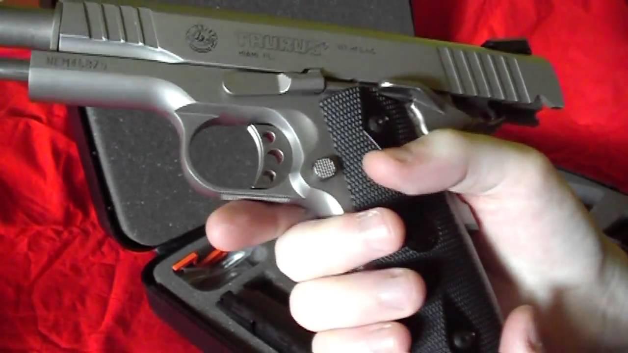 Taurus 1911 45 Acp Stainless Steel Pistol Youtube