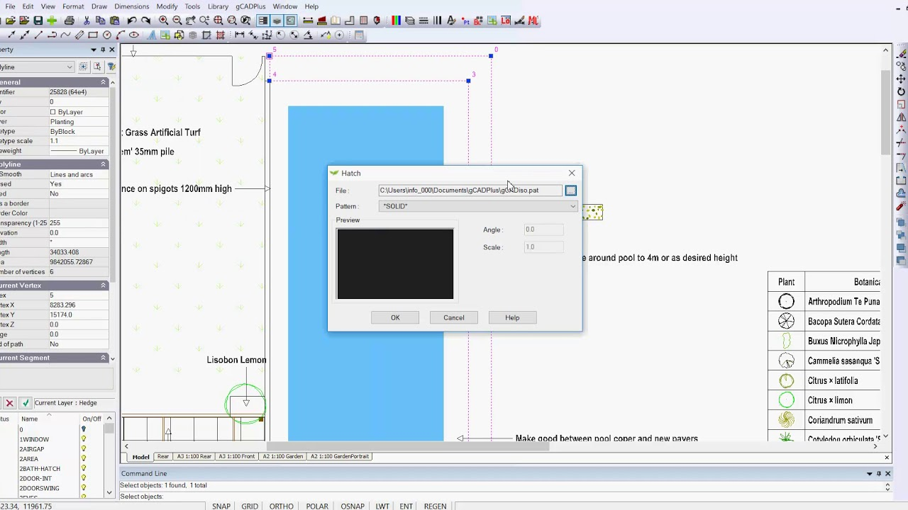 How to load AutoCAD hatch patterns