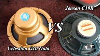 Celestion G10 Gold vs Jensen C10R