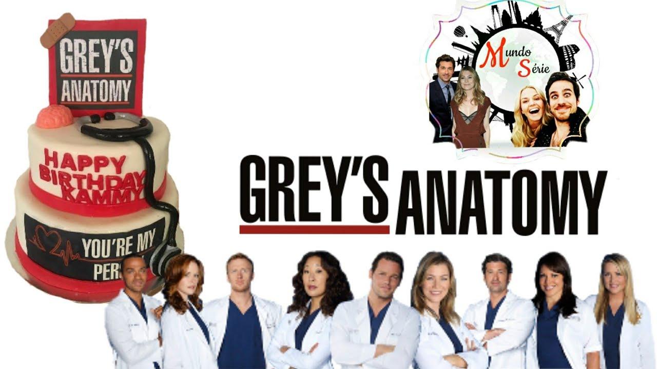 Grey\'s Anatomy bolos de aniversário - parte 1 - YouTube