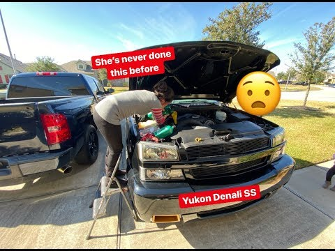 GMC Yukon SS. My Wife Learns To Change Her Oil