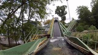 hersheypark coal cracker pov hd on ride front seat water flume rollercoaster gopro 2012 1080p video