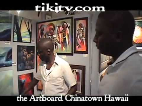 African Tanzanian Culture, Music, Art Paintings Hawaii First Friday Chinatown