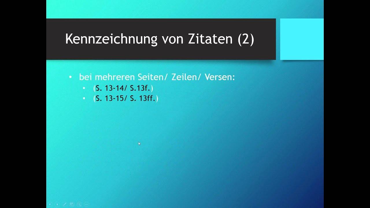 richtig zitieren deutsch
