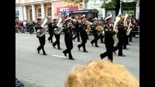 Парад в Новороссийске и собака