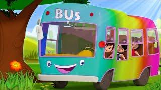 Rainbow Wheels On The Bus | Kids Video Songs | Kindergarten Nursery Rhymes for Children by Kids Tv